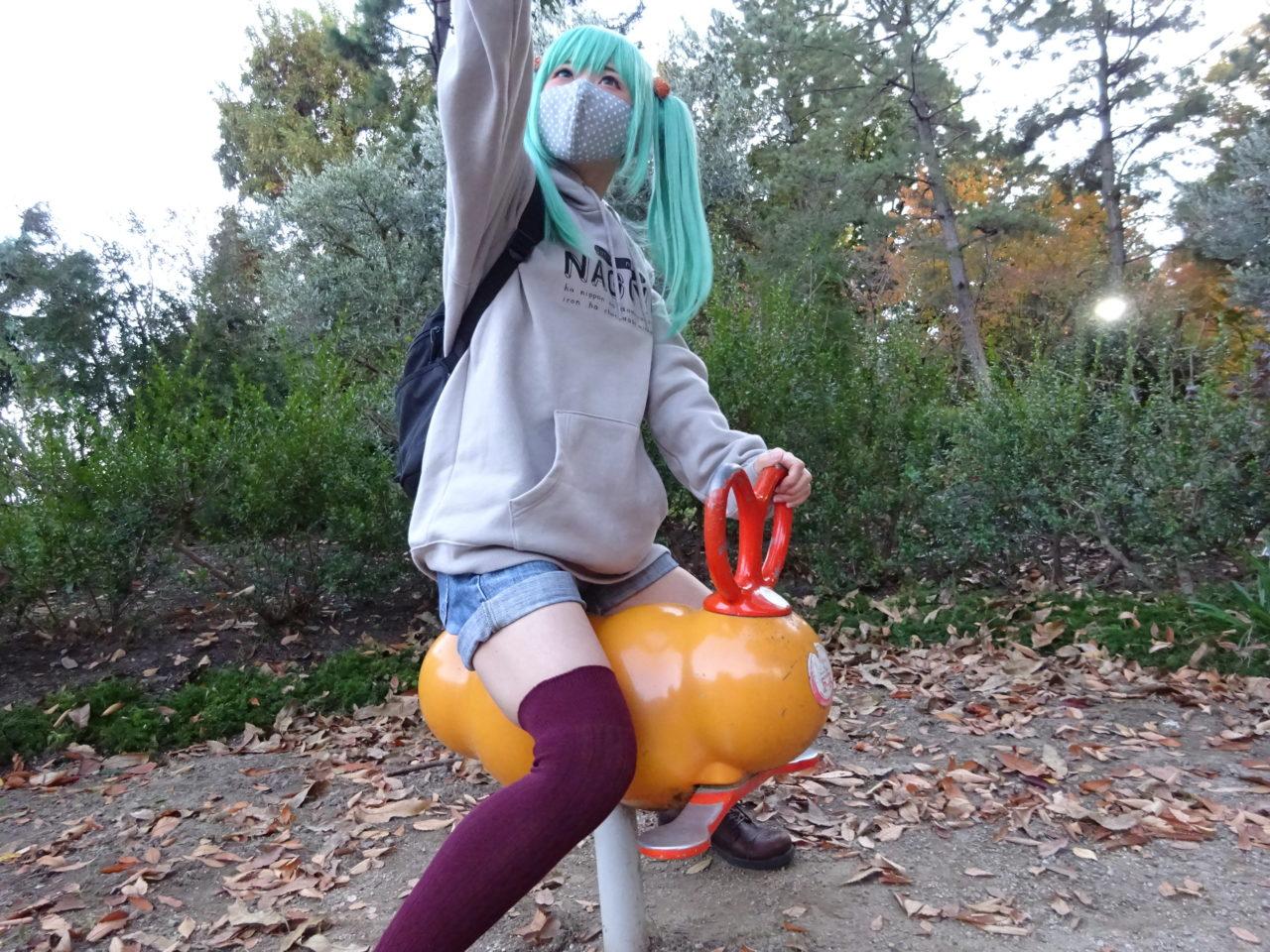 名古屋のエビフライ遊具