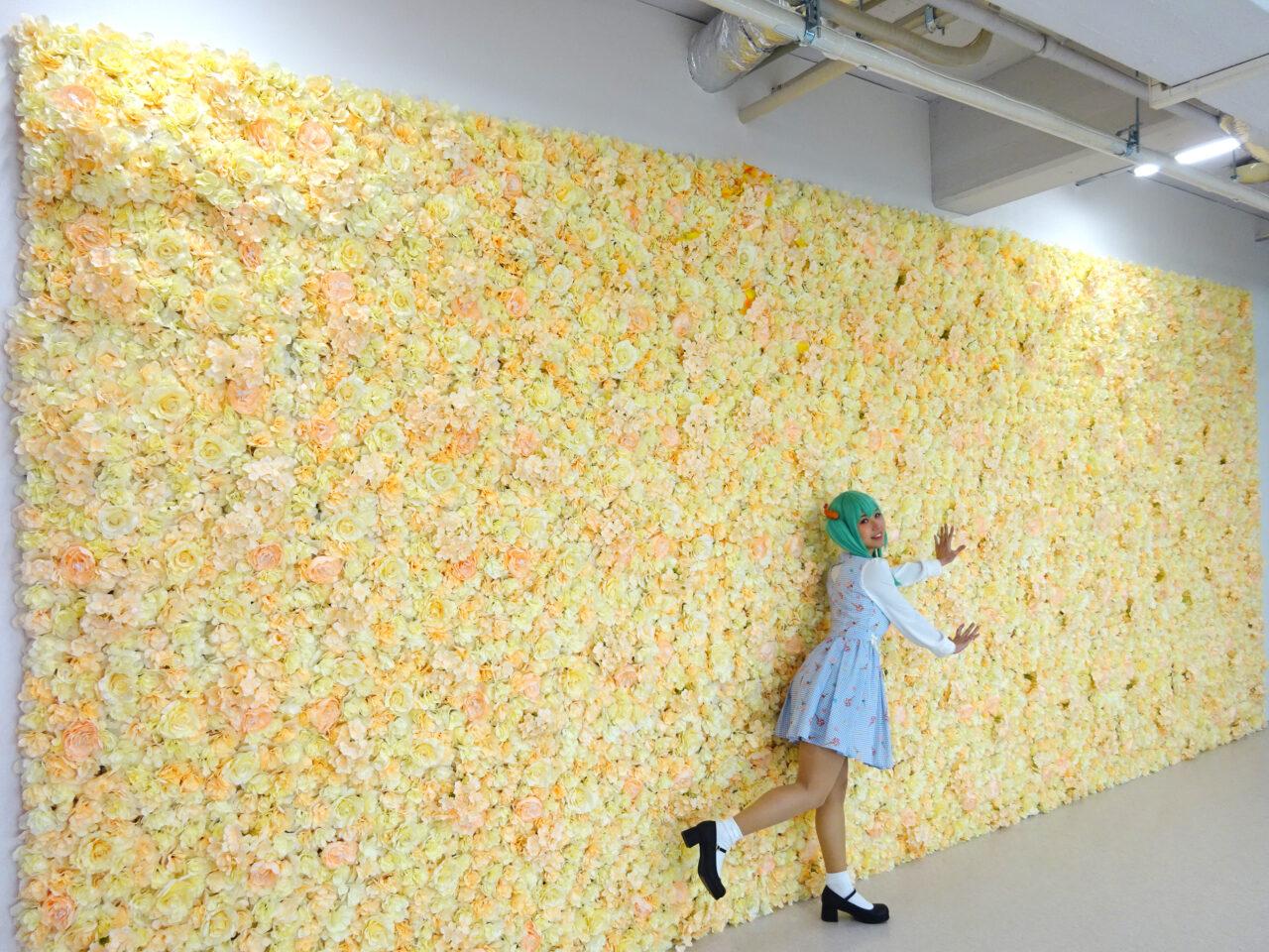 大きな花の壁