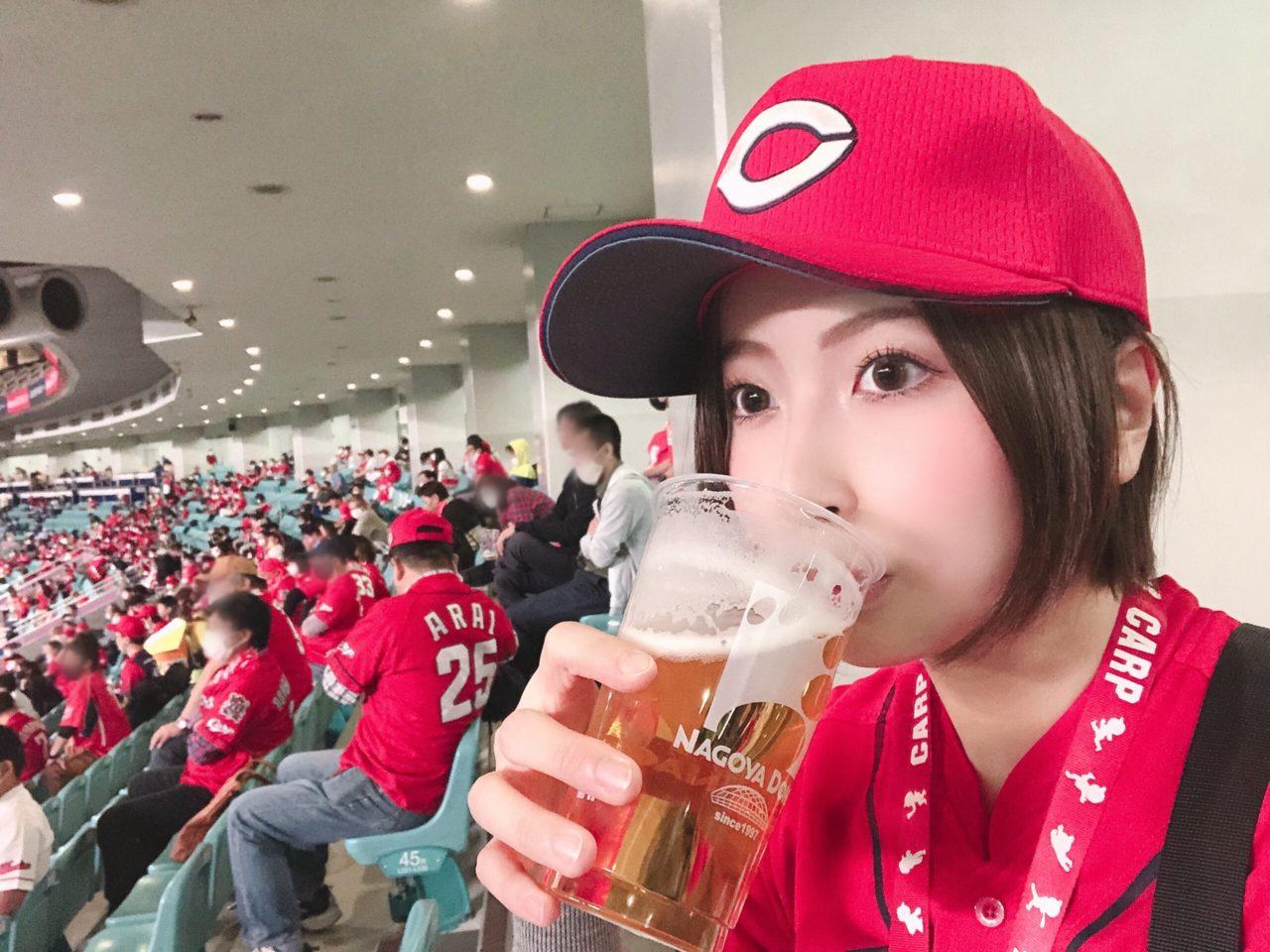 ナゴヤドームの可愛いビール売り子