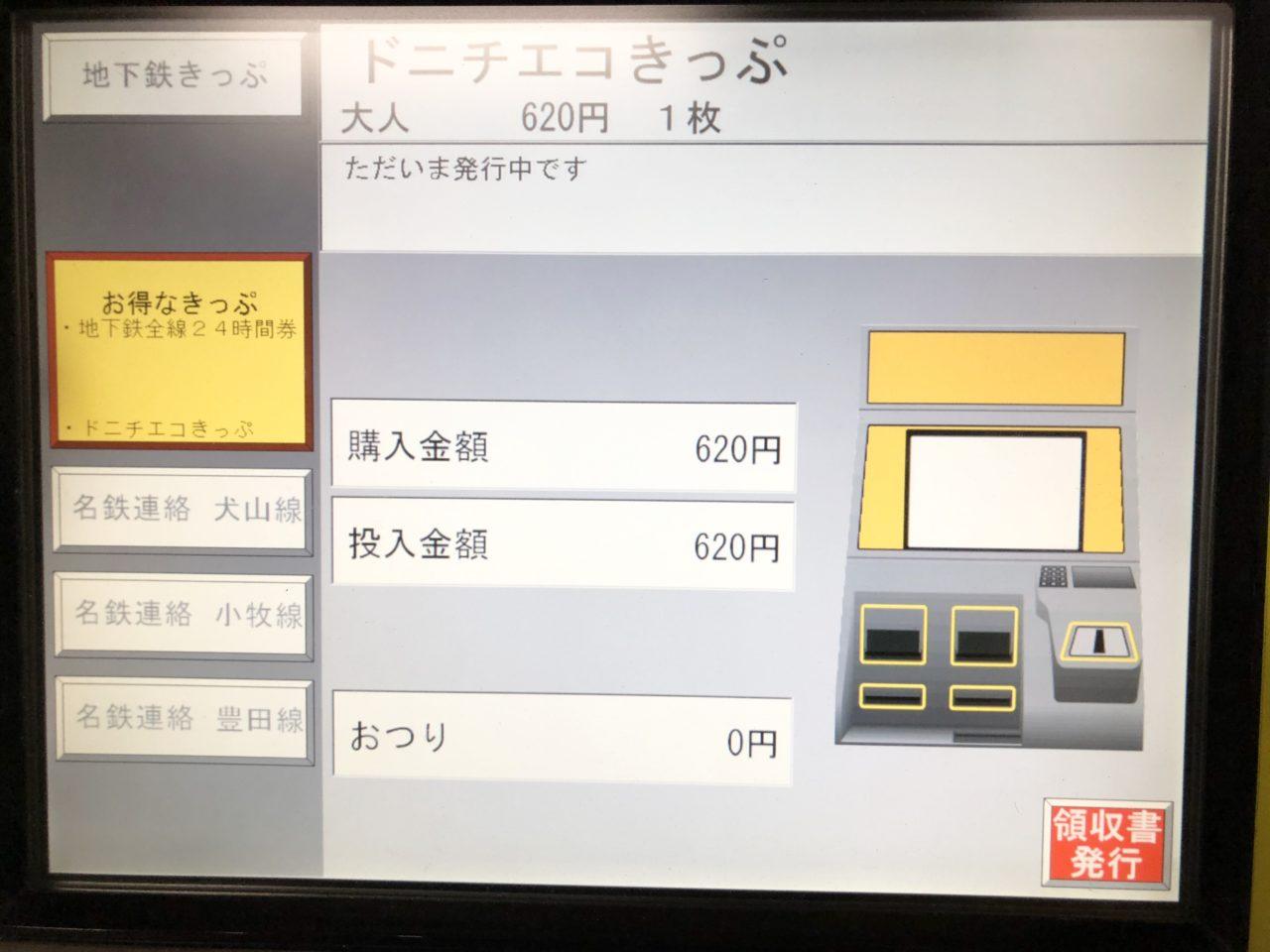 ドニチエコきっぷの料金