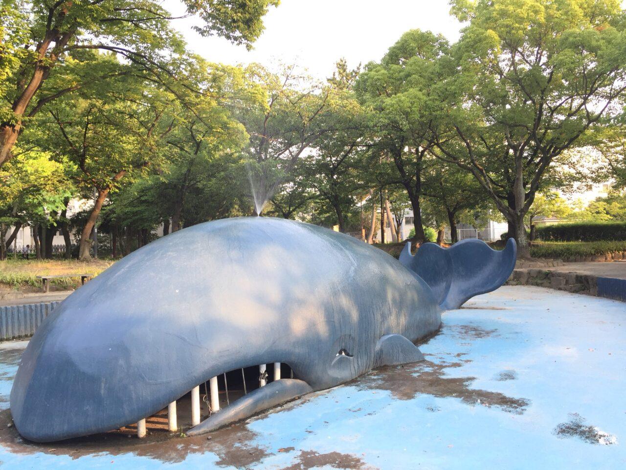 クジラの噴水