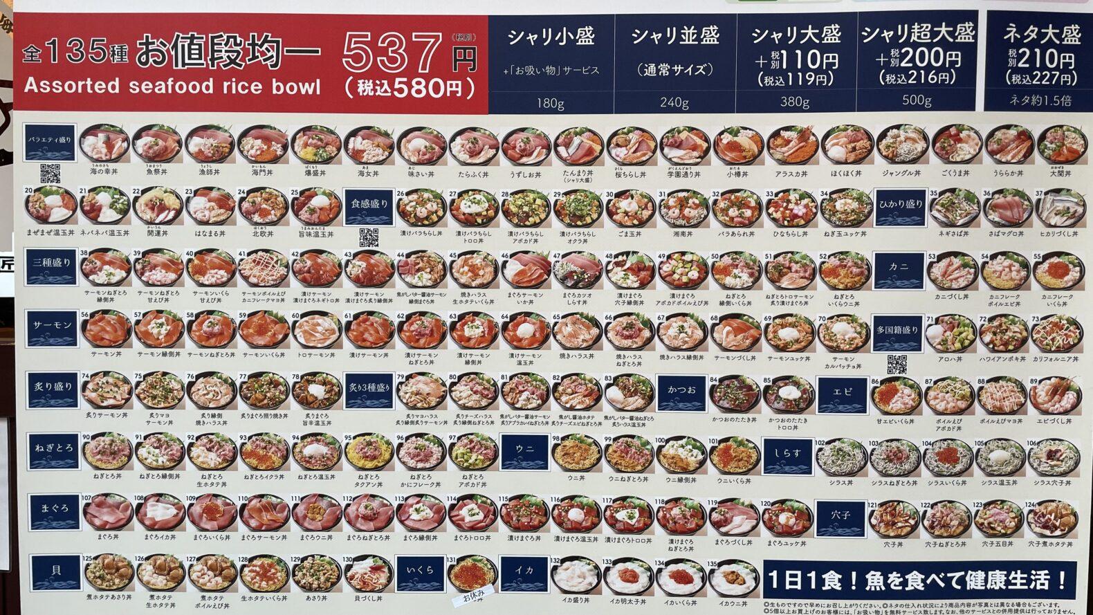 安い海鮮丼